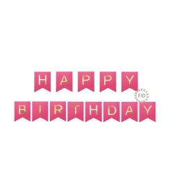 Banderín Happy Birthday Fucsia