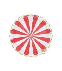 Plato Stripe Rojo