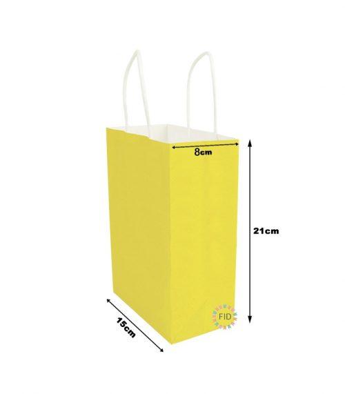 Bolsa de papel amarillo