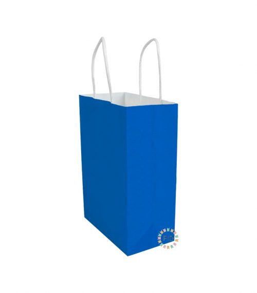 Bolsa de papel azul