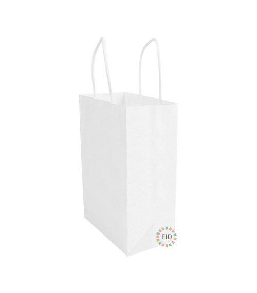 Bolsa de papel blanco