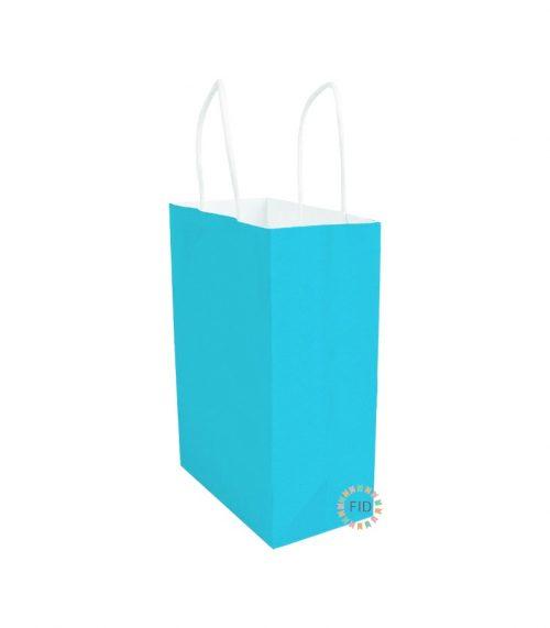 Bolsa de papel celeste