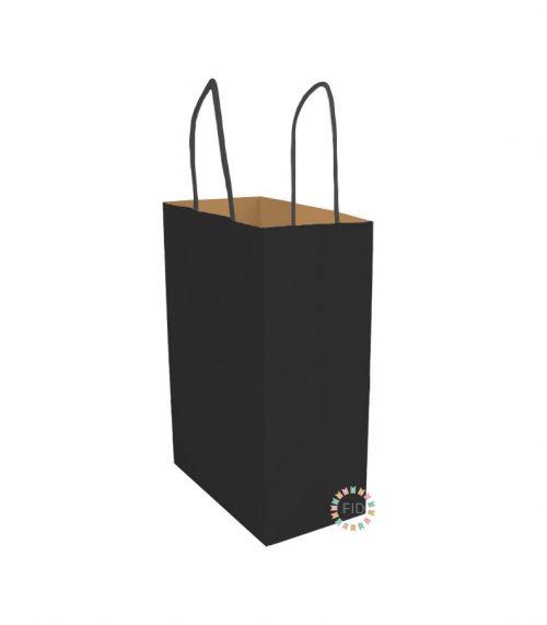 Bolsa de papel negro