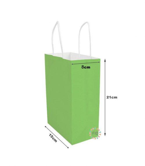 Bolsa de papel verde claro