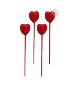 Vela Modelo Corazón Rojo