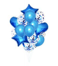 Globo Bouquet Azul set14