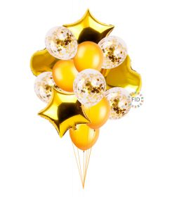 Globo Bouquet Dorado set14