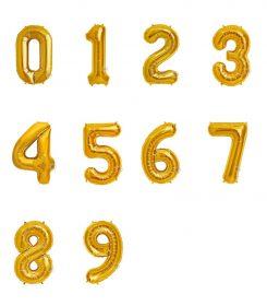 Globos Dorado de Número