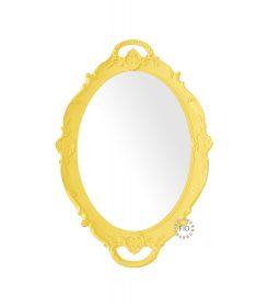 Bandeja Circular Amarillo con Espejo