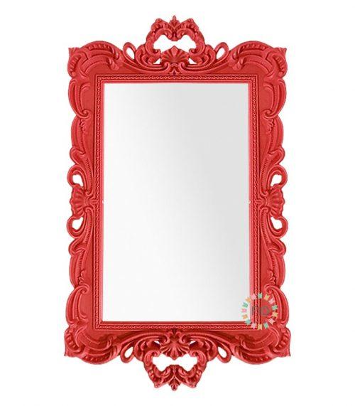 Bandeja Rectangular Rojo con Espejo