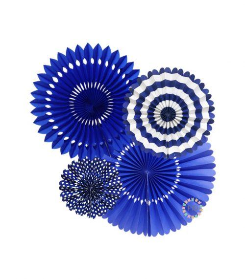 Abanico Azul set4 unidades