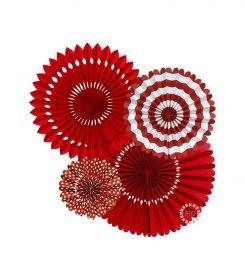 Abanico Rojo set4 unidades