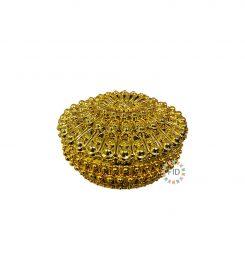 Cofre Circular Dorado x12