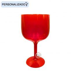 Copa de Color Rojo Translúcido