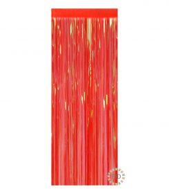 Cortina Iridiscente Rojo