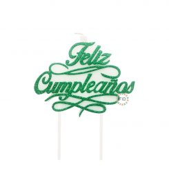 Vela Feliz Cumpleaños Verde